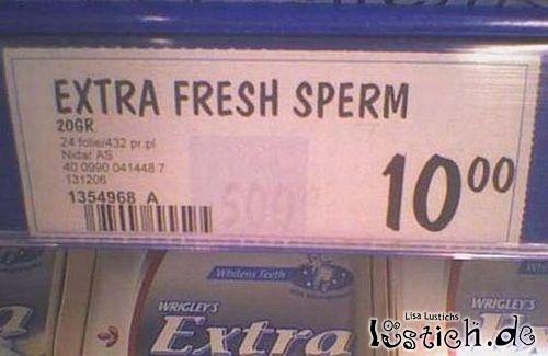 Extra frisches Sperma