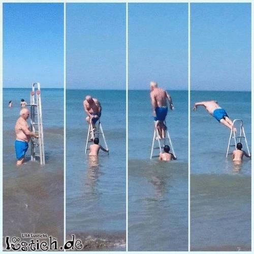 Ins Meer springen