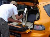 Zapfanlage im Kofferraum