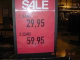 Zwei Jeans sind teurer als eine