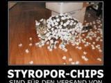 Styropor-Chips