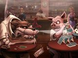 Schwein und Wolf
