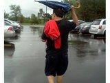 Regenschirm richtig verwendet