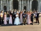 Interessantes Hochzeitsfoto