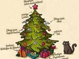 Die Katze und der Weihnachtsbaum