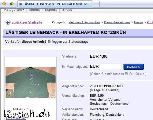 Lästiger Leinensack