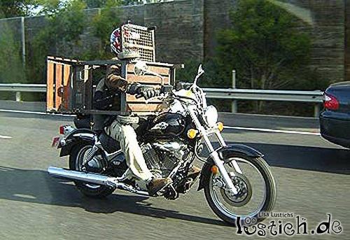 Gefählicher Transport auf zwei Rädern