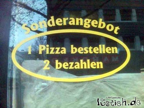 Pizza-Sonderangebot