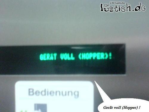 Leergut-Automat voll