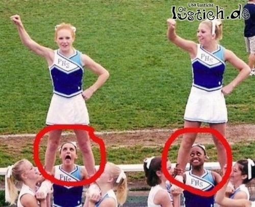 Unter dem Cheerleader-Rock