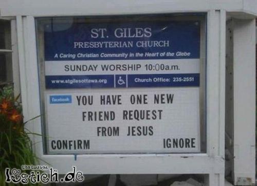 Freundschaftseinladung von Jesus