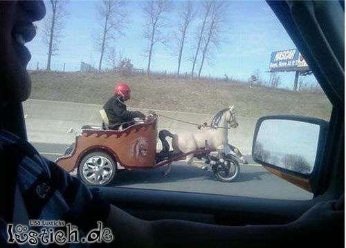 Streitwagen auf der Autobahn