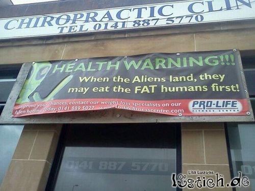 Gesundheitswarnung