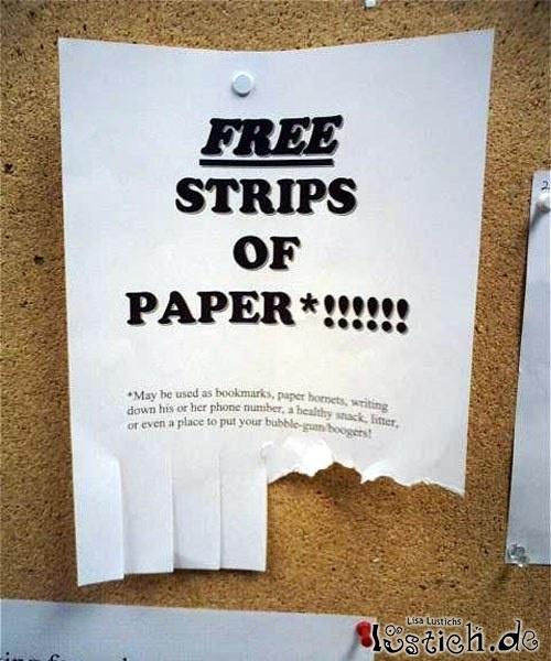 Papierschnipsel gratis