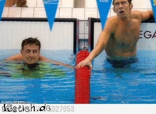 Schwimmer unter sich