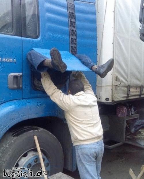 Die Geburt eines LKW-Fahrers
