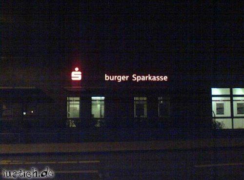 Burger Sparkasse