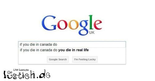 Wenn man in Kanada stirbt