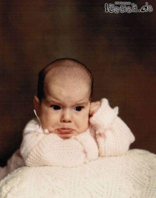 Unglückliches Baby