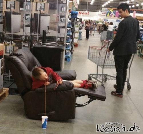 Ein entspannter Tag im Supermarkt
