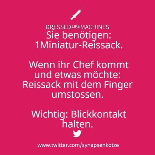 Reissack, Chef, Blickkontakt