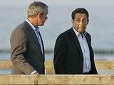 Bush und Sarkozy