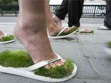 Flip Flops mit Moos