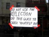 Nutzung der Reflektion verboten
