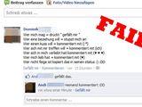 Dumm gelaufen auf Facebook