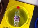 Flasche wegwerfen