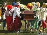 Clown-Beerdigung