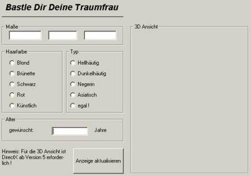 Traumfrau-Generator Download - lustich.de